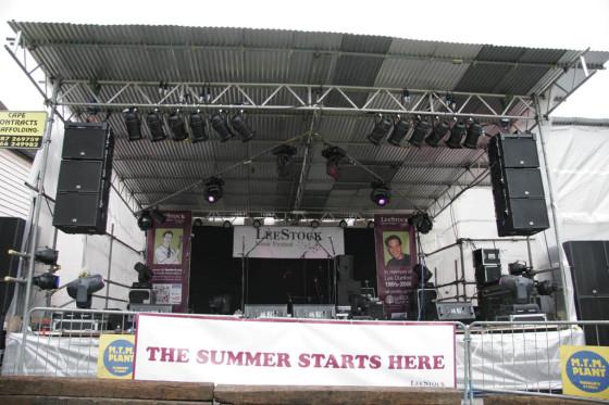 The LeeStock festival site 2011