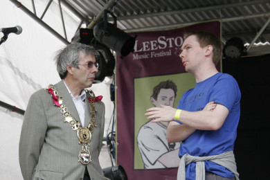 The Mayor of Sudbury visits the LeeStock festival site