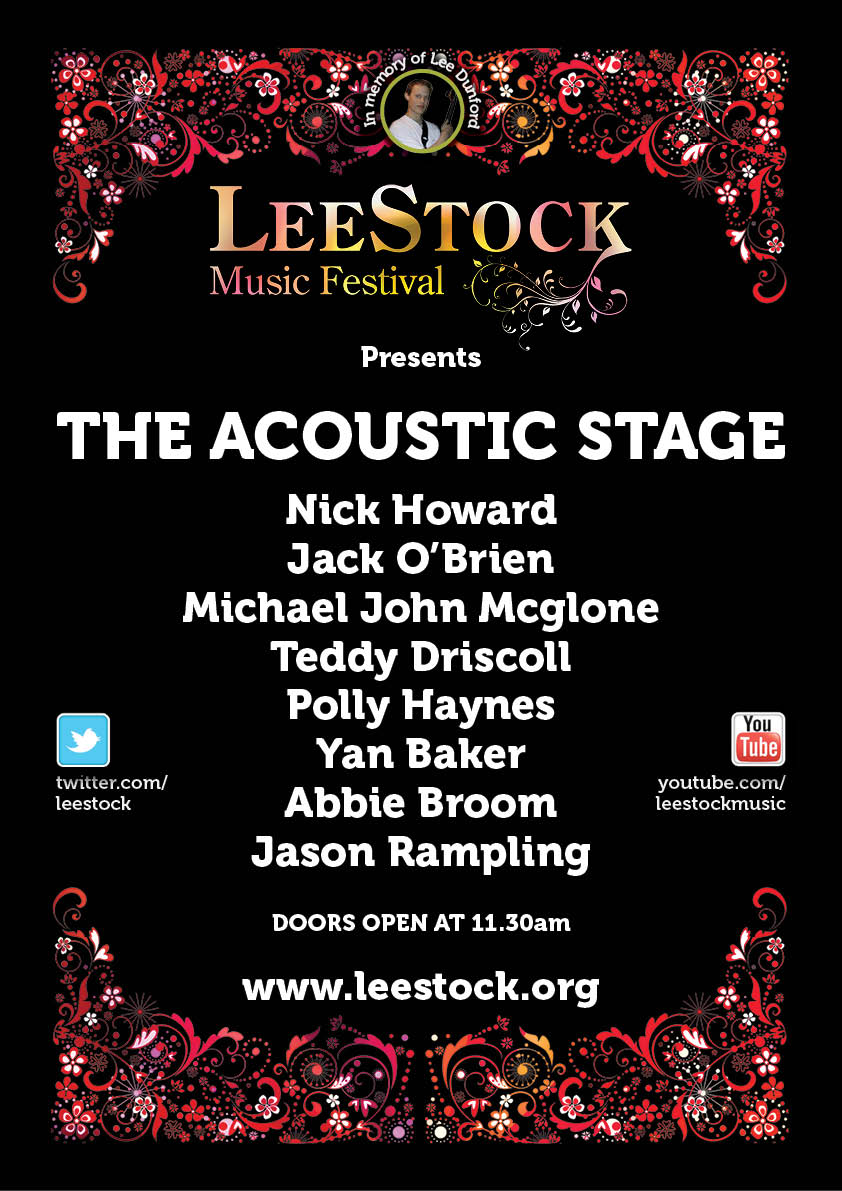 The LeeStock 2012 Acoustic Stage