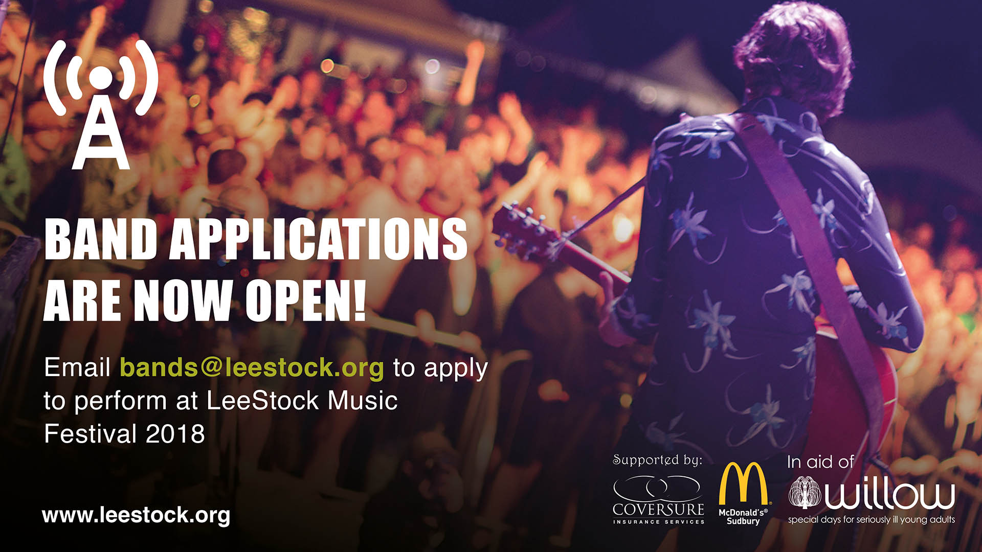 LeeStock Band Applications For 2018
