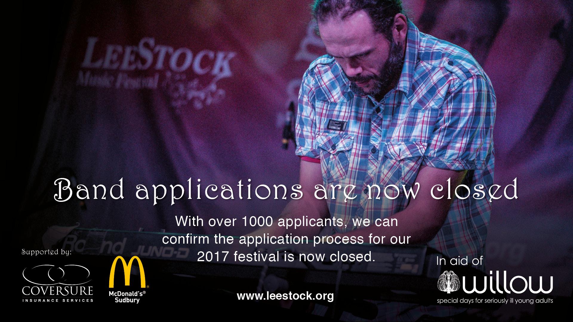 LeeStock Music Festival – 23rd & 24th May 2020 at Melford
