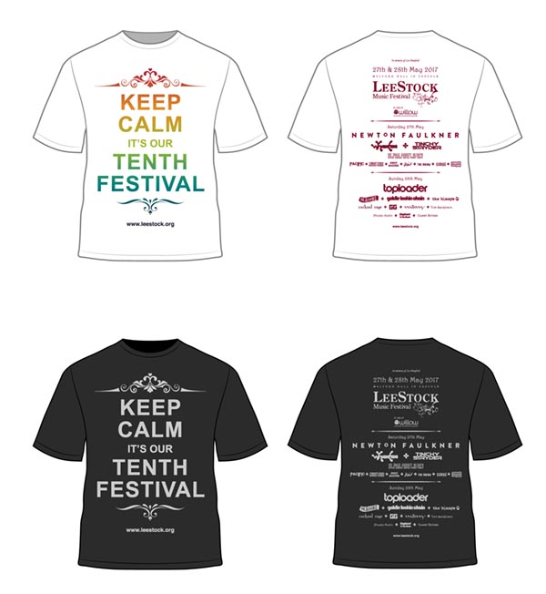 LeeStock 2017 t-shirts