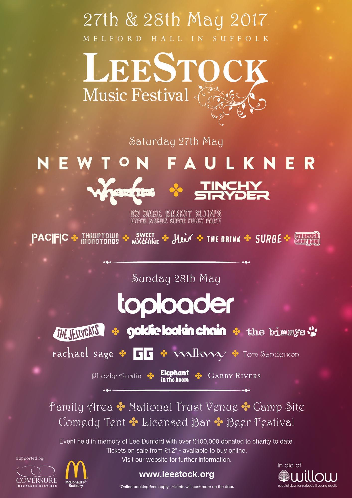 LeeStock 2017 Line up poster