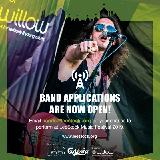 Band applications are now open for 2019