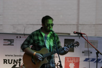 Phill Harrington playing acoustically for LeeStock 2012