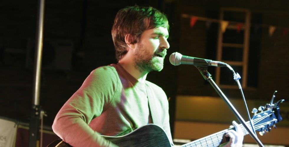Mark Morriss performing 'The Fountainhead'