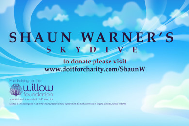 Shaun Warner - Skydiving for LeeStock