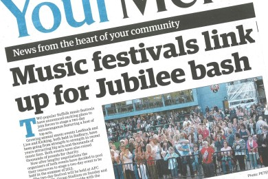 Sudbury Mercury - Music festival links up for Jubilee bash