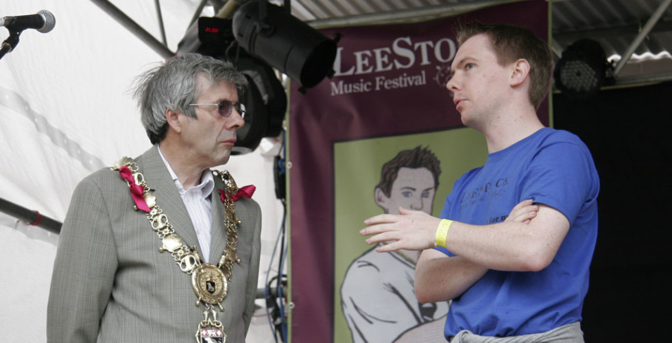 The Mayor of Sudbury visits the LeeStock festival site